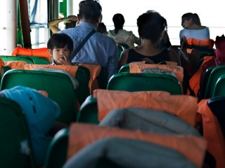 sur le ferry pour koh chang