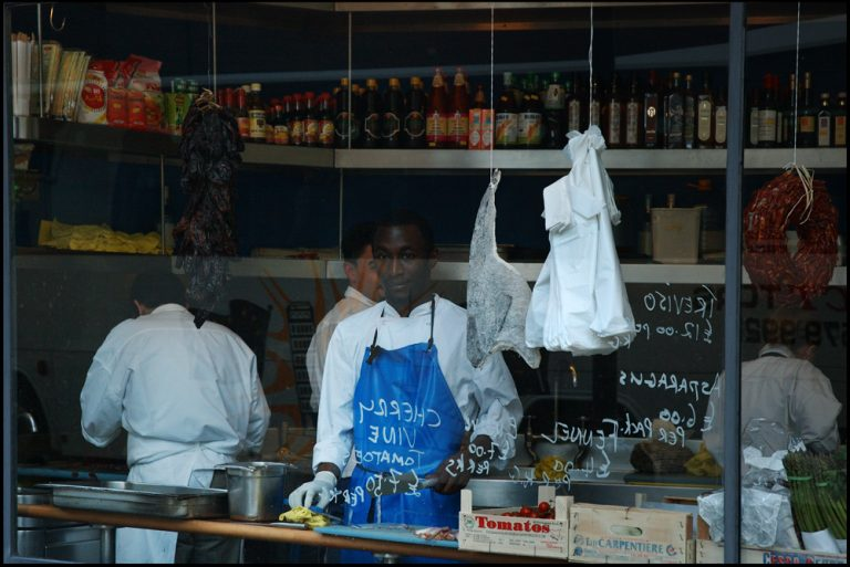 Londres, fish store