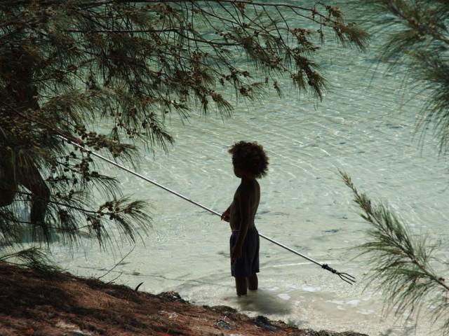 Ile des pins, jeune pêcheur