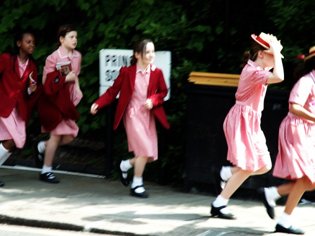 London, school girls