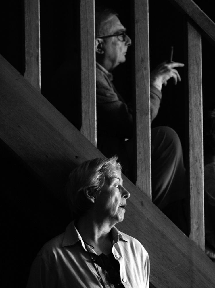 claude, réalisateur, et sa femme aurore, scripte