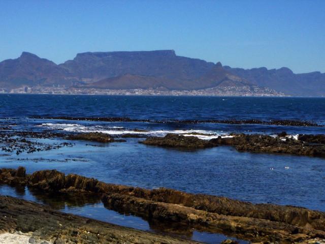 Le cap, vu depuis Robben island
