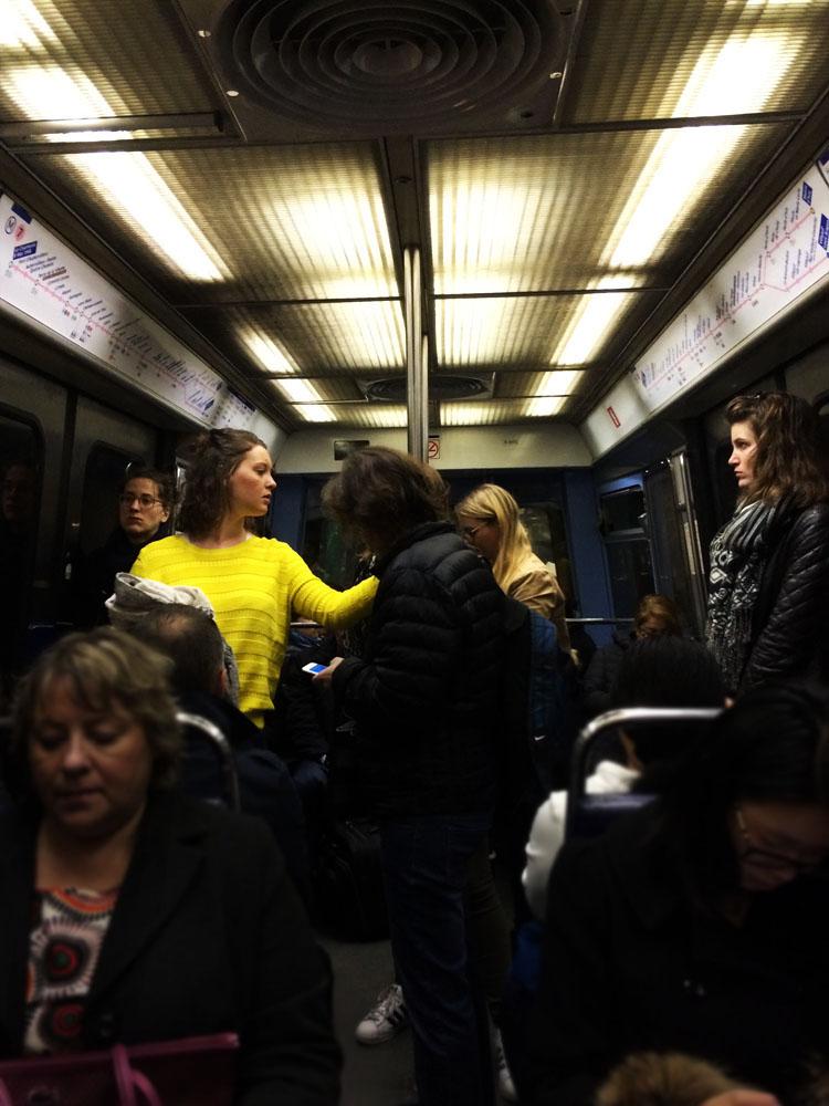 Un soleil dans le métro
